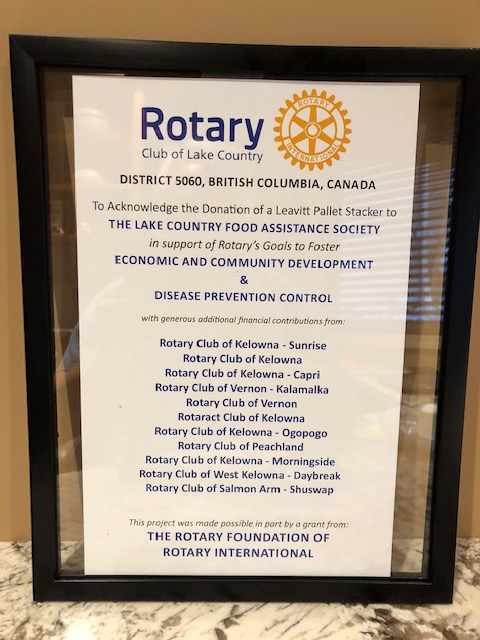 Rotary Club of Peachland | Service Above Self